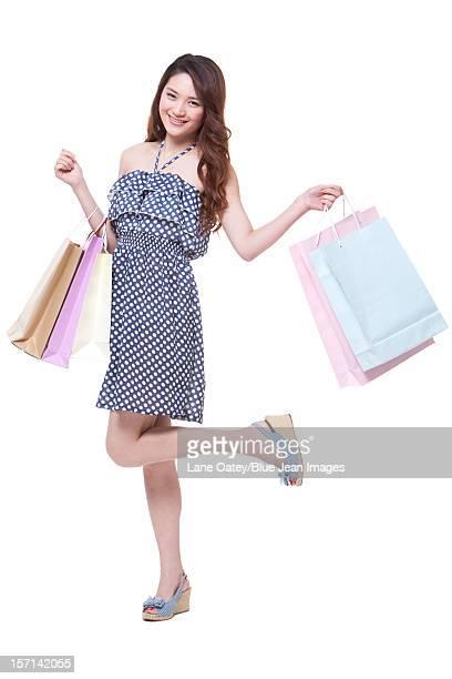 Young woman going shopping