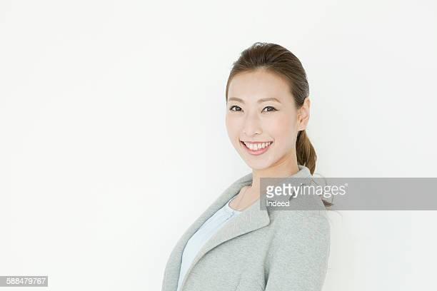 Young woman having big smile