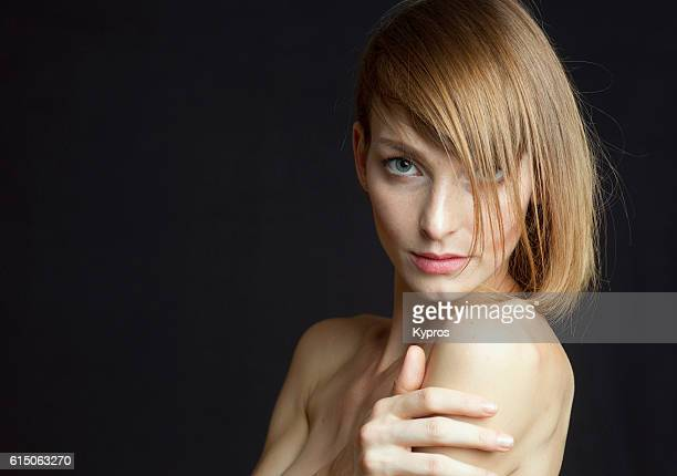 young woman headshot portrait of face - beautiful czech women stock photos and pictures
