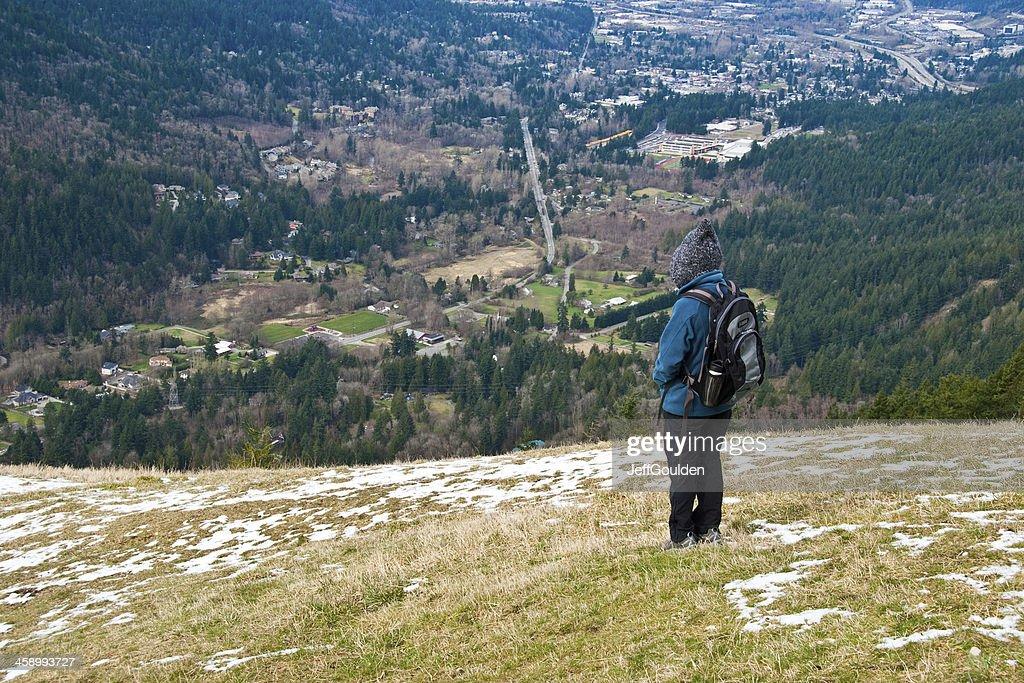 Hiker Enjoying the View : Stock Photo