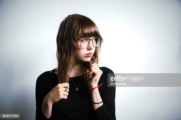 Young Woman Hipster Portrait