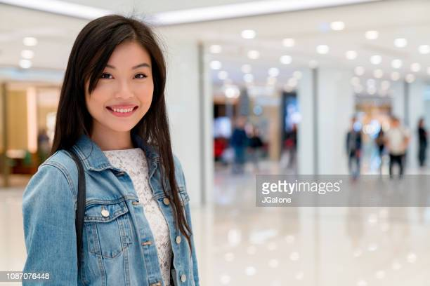 Young woman in a shopping mall