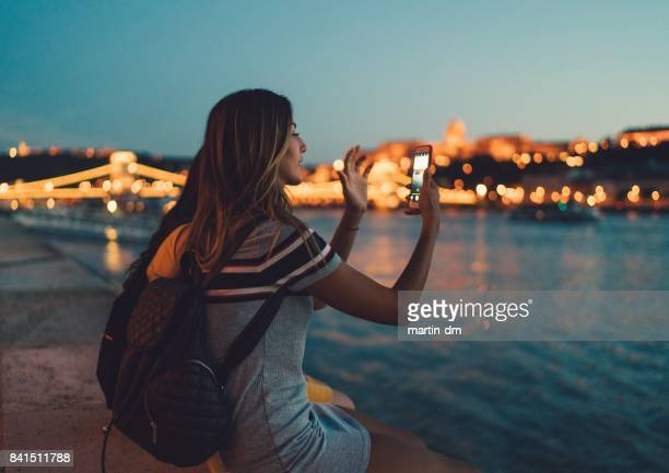 young woman in budapest - photographing stock pictures, royalty-free photos & images