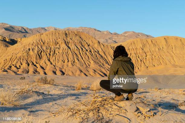 young woman in california desert - anza borrego desert state park stock pictures, royalty-free photos & images