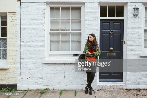 Young woman in central London, Notting Hill district