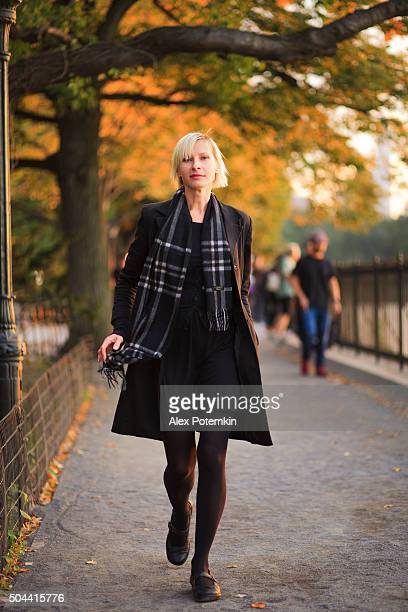 Young woman in Central Park, Manhattan, NYC