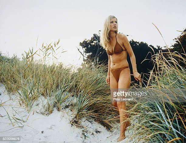 Young woman in dunes
