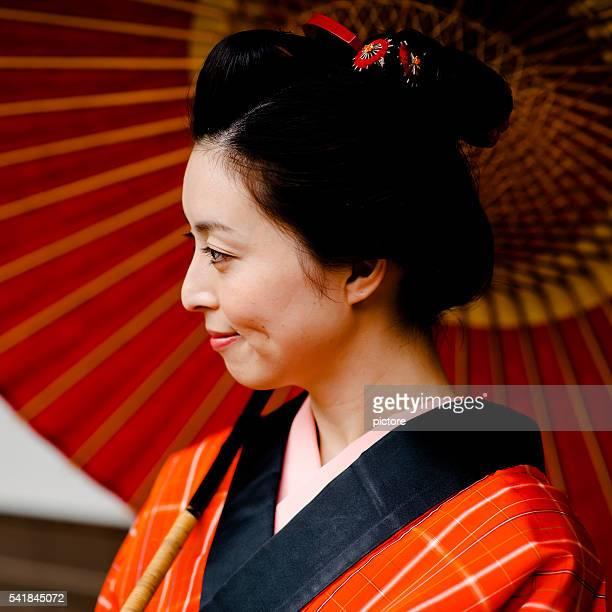 若い女性江戸時代のスタイル - edo period ストックフォトと画像