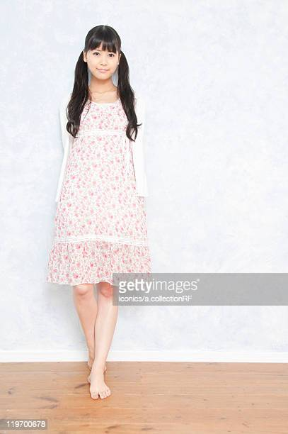 Young Woman in Floral Dress