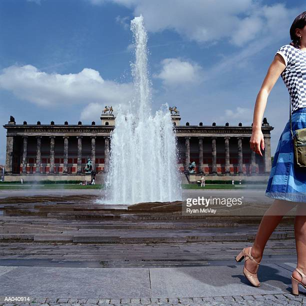 Young Woman in Front of Altes Museum, Berlin