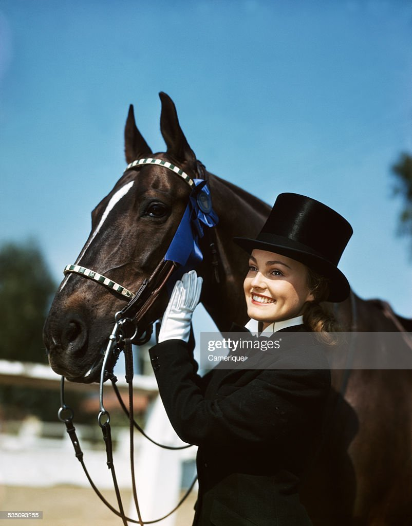 Young Woman In Full Riding Gear Posing With Her Award Winning Horse News Photo Getty Images
