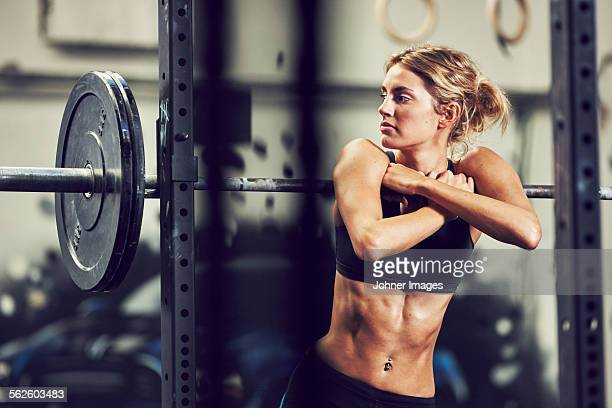 Young woman in gym