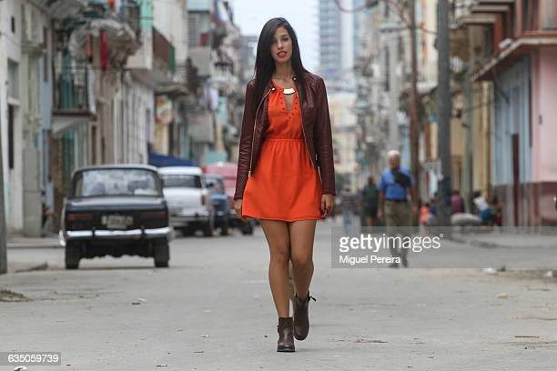 young woman in havana - mini dress stock photos and pictures