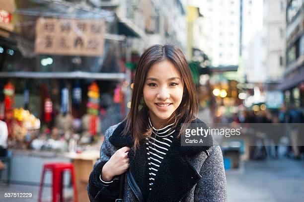 Young woman in Hong Kong