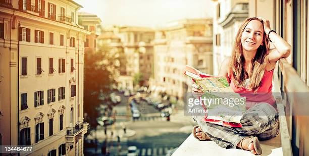 Young woman in Italy