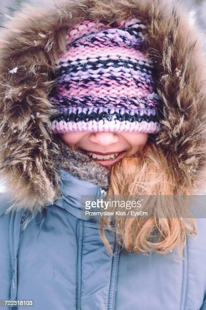 Young Woman In Knit Hat