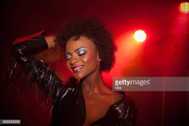 young woman in night club - diva human role stock photos and pictures