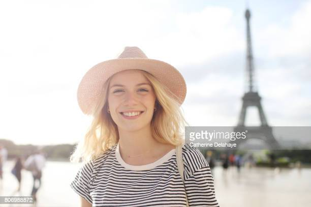 A young woman in Paris