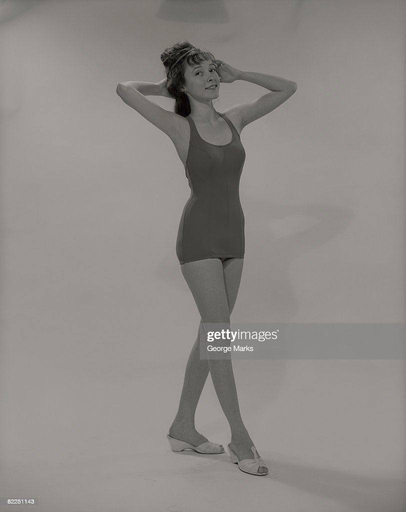 Young woman in swimsuit, portrait : Stock Photo
