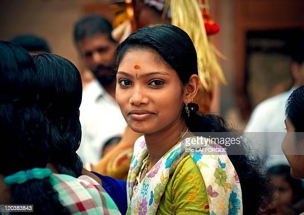 Young woman in Tellichery Kerala India on February 23 2008