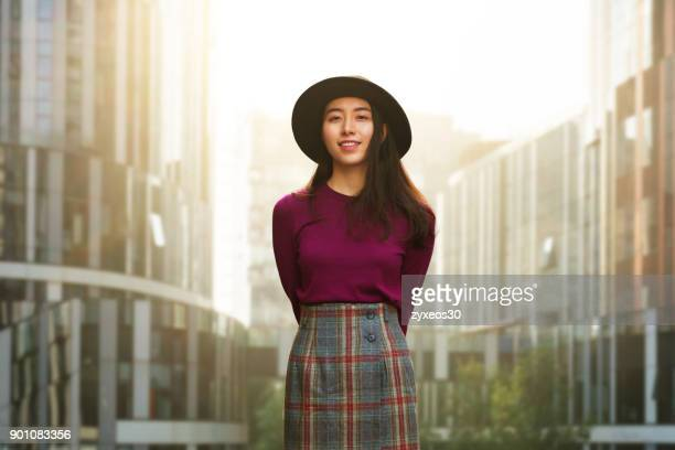 a young woman in the beijing sanlitun,china - east asia, - china east asia stock pictures, royalty-free photos & images