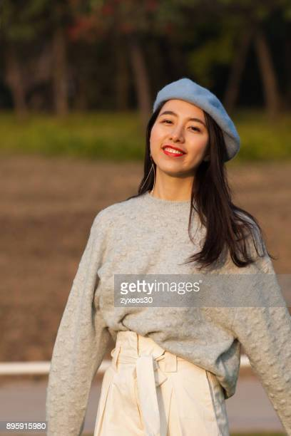 a young woman in the natural environment,china - east asia, - china east asia stock photos and pictures