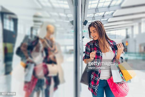 Young woman in the shopping mall