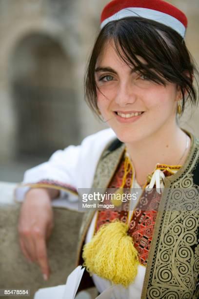 young woman in traditional clothing - vestido tradicional fotografías e imágenes de stock