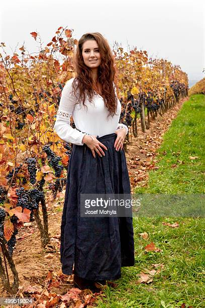 Young woman in vineyard