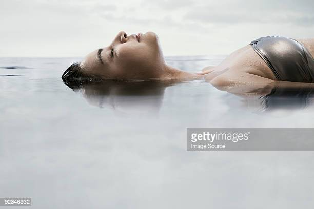 Young woman in water