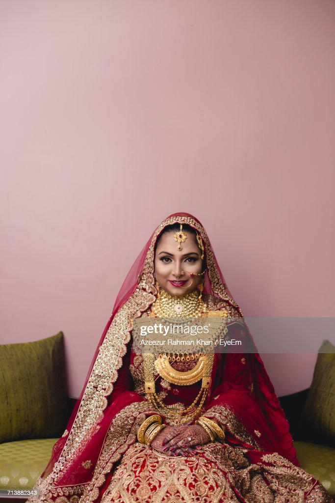Young Woman In Wedding Dress : Stock Photo