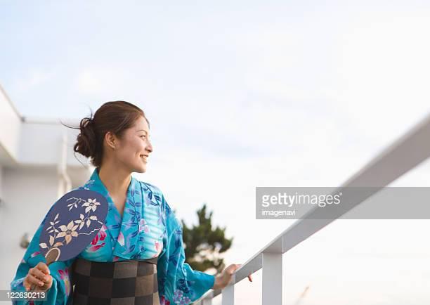 Young woman in yukata
