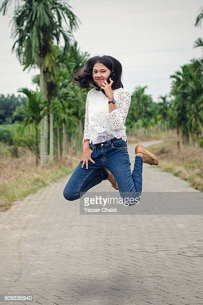 Young Woman Jump
