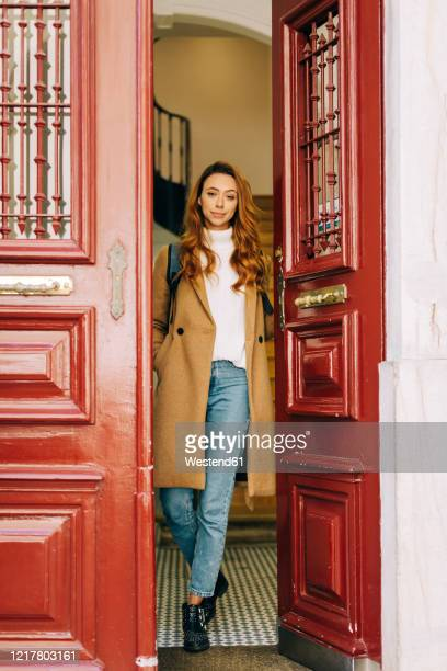 young woman leaving home - leaving stock pictures, royalty-free photos & images