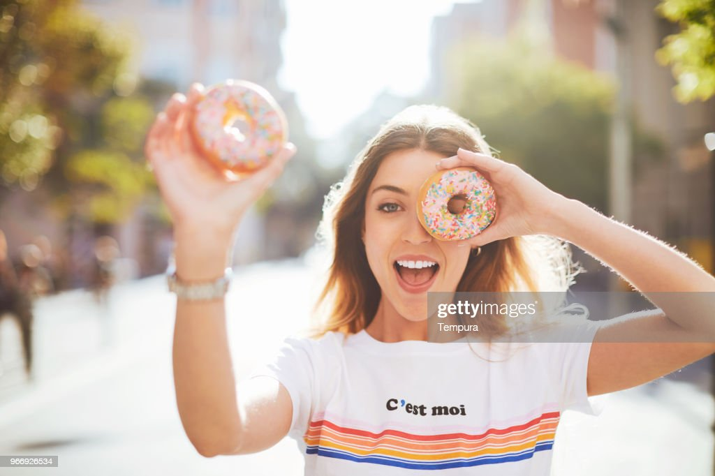 Young woman lifestyle in Barcelona. : Stock Photo