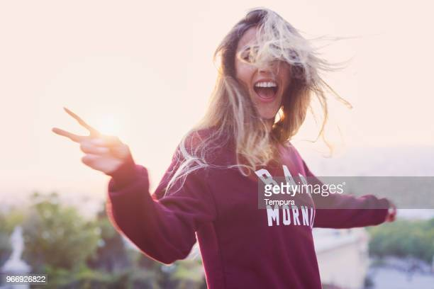 young woman lifestyle in barcelona. - generation z stock pictures, royalty-free photos & images
