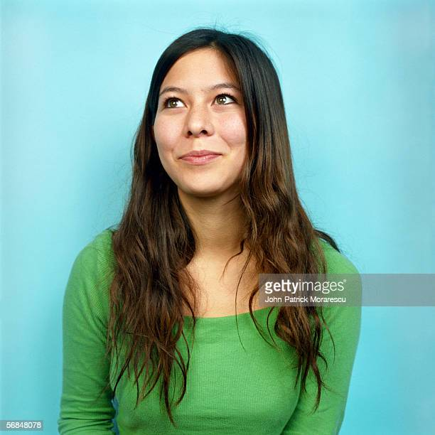 young woman looking away, portrait - looking away stock pictures, royalty-free photos & images