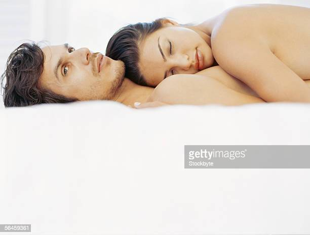 couple sleeping naked images