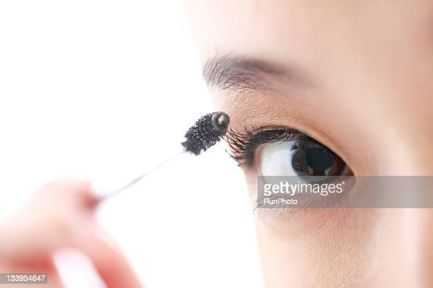 young woman make-up beauty,eye close-up