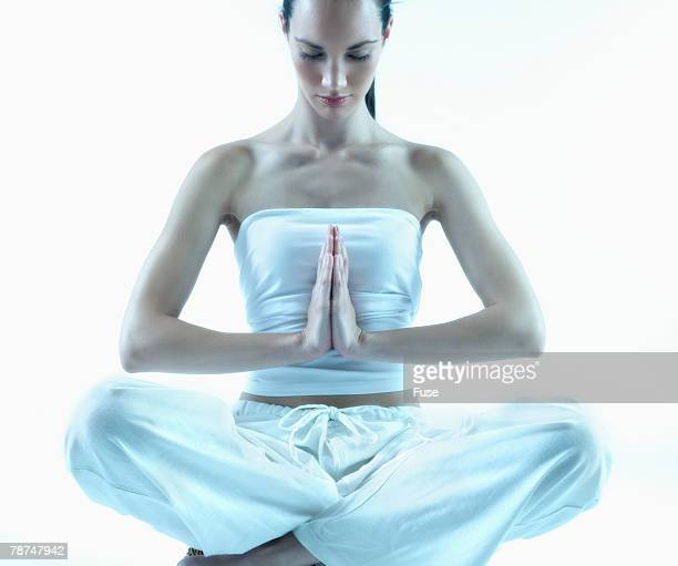 Young Woman Making Namaste Gesture
