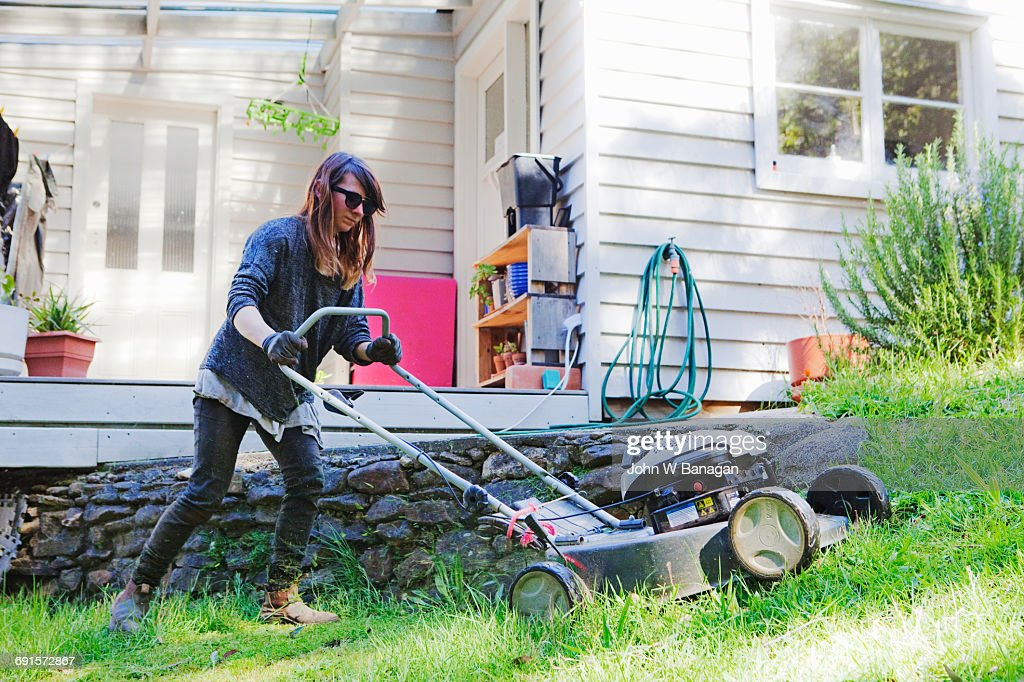 Woman Lawn Mower Images - Download 530 Royalty Free Photos