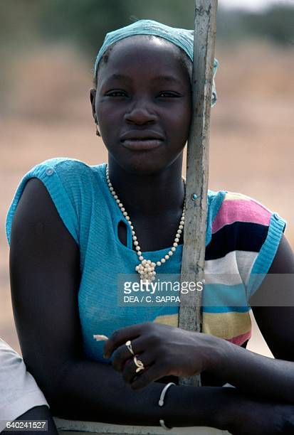 Young woman near the monastery in Koubri, Burkina Faso.