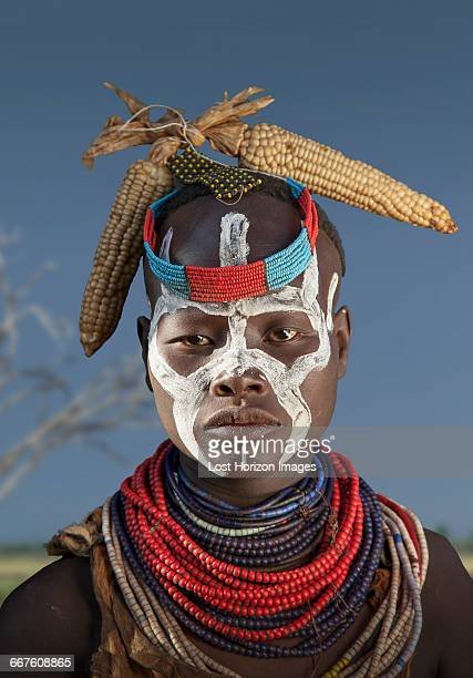 Young woman of the Karo Tribe, Omo Valley, Ethiopia