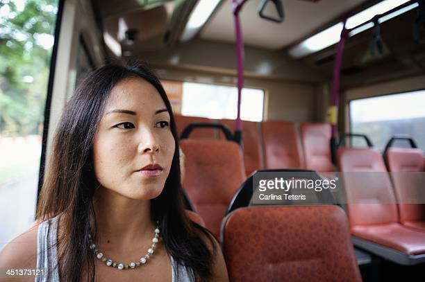 Young woman on a bus