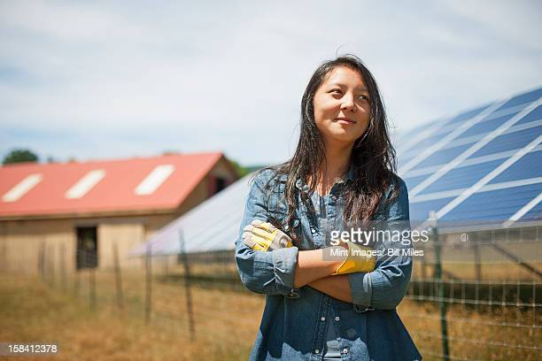 a young woman on a traditional farm in the countryside of new york state, usa - farm woman stock pictures, royalty-free photos & images
