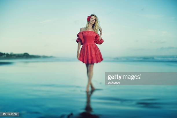 young woman on beach - hot model indonesia stock pictures, royalty-free photos & images