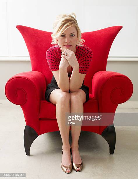 Young woman on chair, portrait