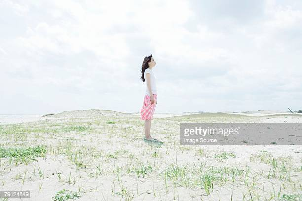 Young woman on dune