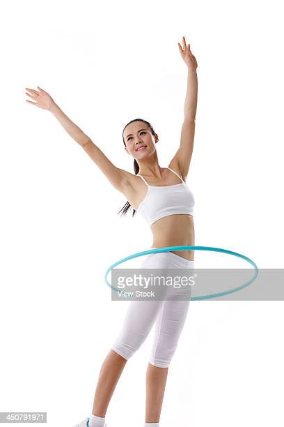 Young woman on exercise