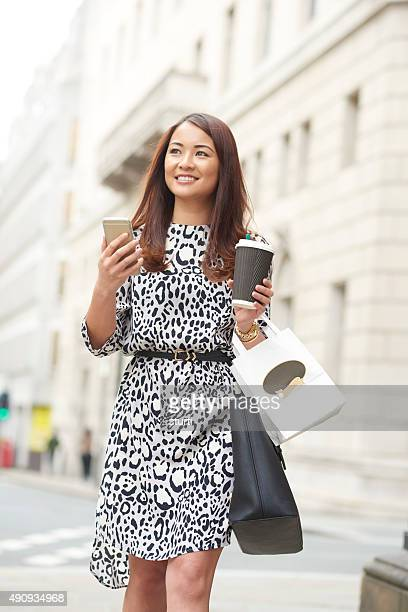 young woman on her lunch break